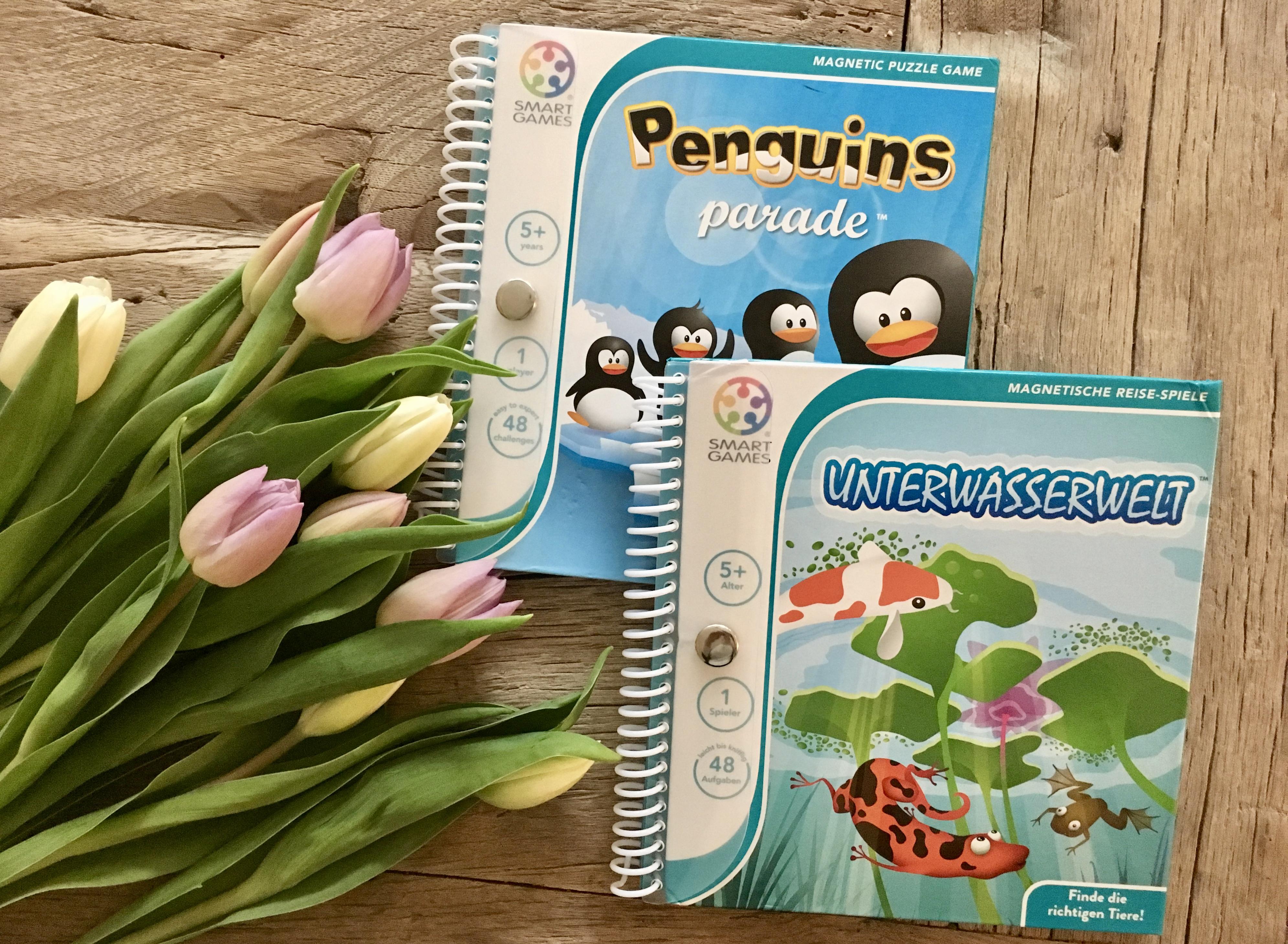 Magnetische Logik-Reisespiele: Pinguin-Parade und Unterwasserwelt von Smartgames