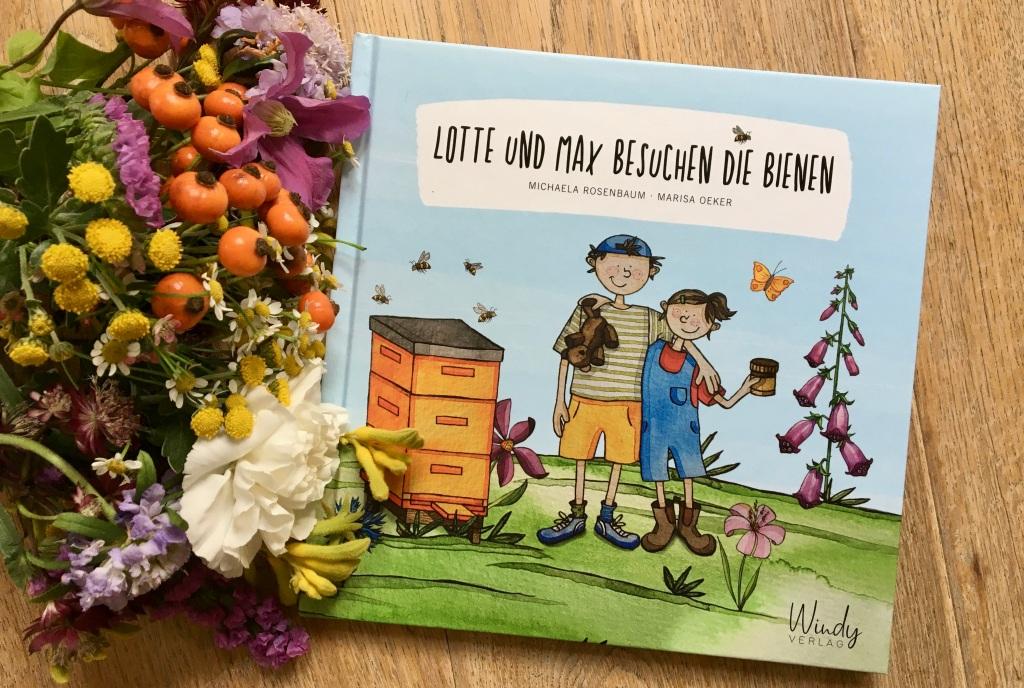 Lotte und Max besuchen die Bienen von Michaela Rosenbaum (Text) und Marisa Oeker (Illustration)