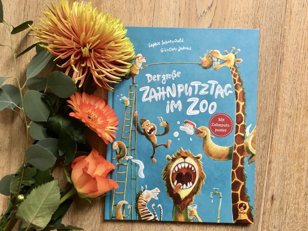 Der große Zahnputztag im Zoo von Sophie Schoenwald (Text) und Günther Jakobs (Illustration)
